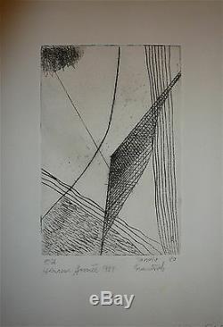 Frantiek Janula Gravure Originale Signée Numérotée Abstrait Erotic abstraction