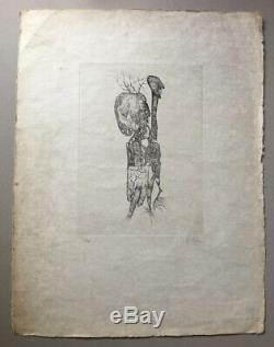Fred Deux eau-forte originale / japon signée en bas à droite n° 12/30 50x66