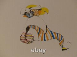 GRAVURE ORIGINALE SIGNEE LEONOR FINI EAU-FORTE POCHOIR 1/185 Surrealism 1975