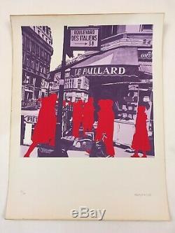 Gérard FROMANGER sérigraphie Boulevard des Italiens Signée et numérotée