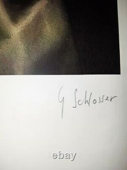 Gérard Schlosser Serigraphie Originale Signée et Numérotée au crayon