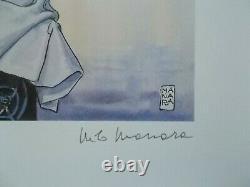 Grande Serigraphie de Milo Manara Esmeralda & Corto + Belle Signature