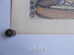 Grande Sérigraphie de Milo Manara, La Charmeuse , Signée et Numérotée