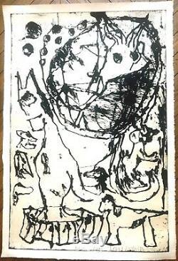 Gravure Jean-Pierre Pincemin eau forte au sucre aquatinte artiste peintre