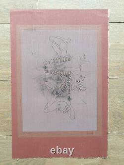 Gravure Orig Hans Bellmer sign Surrealiste Erotica Curiosa Nu Feminin Poupée