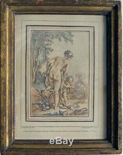 Gravure à la sanguine par Gilles DEMARTEAU(1722-1776) d'après François BOUCHER