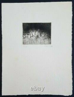 Gravure originale Abstraction 1960 André Marfaing (1925-1987)