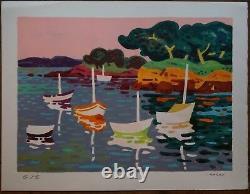 Guy CHARON (né en 1927) Lithographie originale, signée et numérotée
