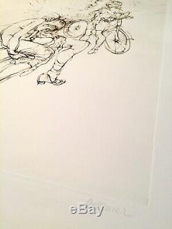 Hans Bellmer Le banc gravure signée et numérotée