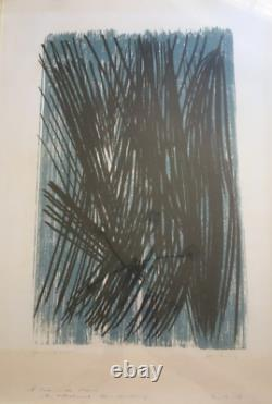 Hans HARTUNG Lithographie, signée au crayon, épreuve d artiste