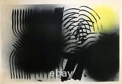 Hans Hartung Lithographie Originale L. 1970-2 Original Litho Print 1970