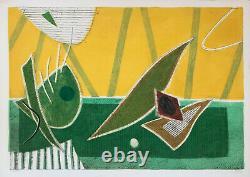 Henri GOETZ / Hand signed carborundum etching print / Gravure 75x105cm