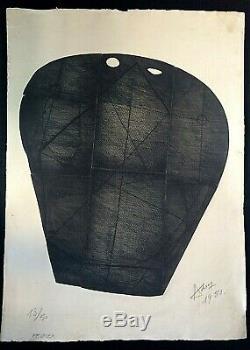 Henri-georges Adam Février. Burin. 1951. Signé, Daté & Numéroté Au Crayon