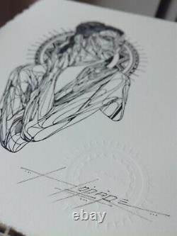 Hopare Gravure Impression sur papier Numérotée, Signée et tamponnée 2021