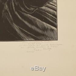 JEAN CHIEZE Creac'h d'Ouessant bois gravé dédicacé André Allix n° 51/100