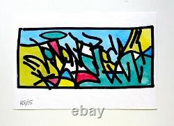 JONONE 2010 Sérigraphie peinte signée. Dans sa boite + COA
