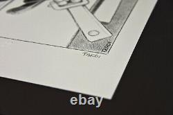 Jacques Tardi Lithographie originale sur pierre numérotée et signée à 100 ex