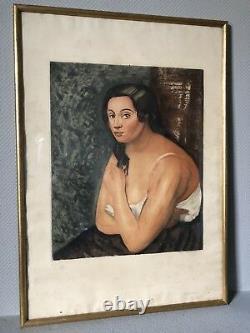 Jacques Villon Buste de femme Derain 1922 aquatinte BERNHEIM JEUNE PARIS