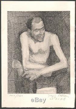 Jacques Villon. Eau-forte originale. Le rire signée et numérotée