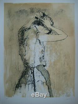 Jansem Jean Lithographie 1975 Signée Crayon Num/110 Handsigned Lithograph Femme