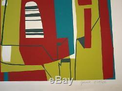 Jean CAVALLARO (1930-2000) LITHO ORIGINALE ÉPREUVE ARTISTE SIGNEE ART ABSTRAIT