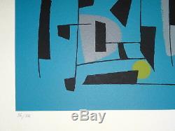 Jean CAVALLARO (1930-2000) LITHO ORIGINALE NUMÉROTÉE 6/12 SIGNÉE ART ABSTRAIT
