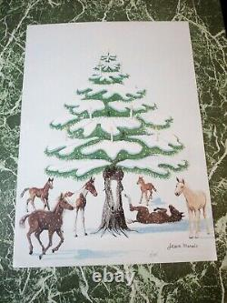 Jean MARAIS Lithographie signée numérotée 60x44 arbre de Noël