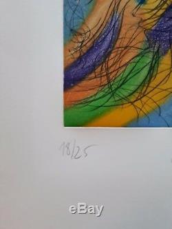 Jean Messagier gravure originale numérotée signée estampe couleurs