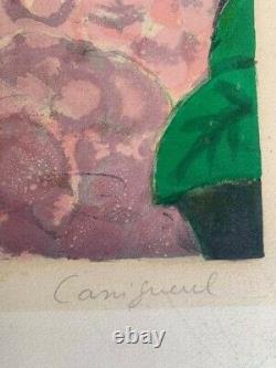 Jean Pierre Cassigneul Les hortensiasLithographie Signé à la main 122/200