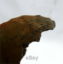 Jean Pierre Chabert sculpture tête de rhinocéros, tirage signé, résine numérotée