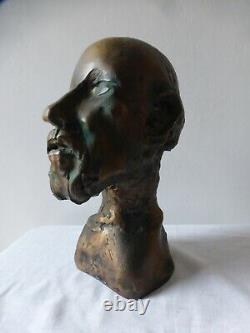 Jean ROULLAND. Sculpture bronze HIPPOCRATE. Certificat. Numéroté Bronze bust