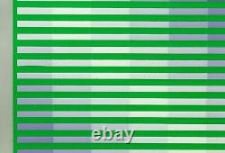 Kobra 18 Estampe de 1972 cynétique Art optique esprit de Vasarely GRAV Yvaral