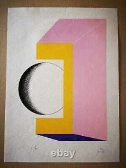 Kumi Sugaï sérigraphie signée numérotée sur papier Japon abstrait abstraction