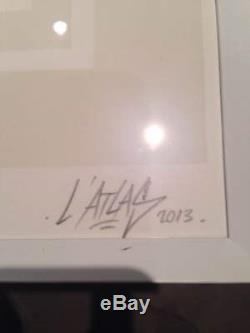 L'ATLAS BIG BANG sérigraphie encadrée signée-num/55 vhils/dolk/imbue/jonone