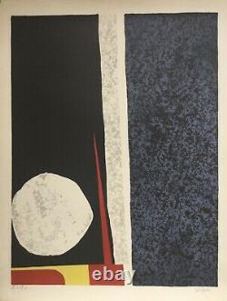Ladislas KIJNO 1921-2012. Composition. Lithographie originale signée. 65x50
