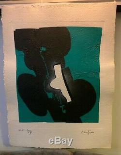 Ladislas KIJNO 4 gravures au carborundum HC signées & numérotées par l'artiste