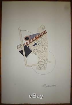 Le Yaouanc Alain Lithographie signée numérotée 1969 art abstrait abstraction