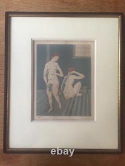 Leonard Foujita, Eau Forte signée au crayon. Numérotée HC (Hors Commerce) 1926