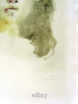 Leonor Fini 2 Grandes Lithos Couleurs Anciennes -signées- Colère Douceur