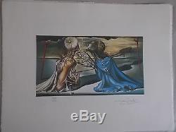 Lithographie, Salvador Dali Conception pour l'ensemble , signée et numérotée