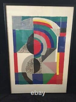 Lithographie Sonia DELAUNAY originale, signée et numérotée 24/25