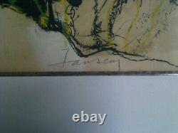 Lithographie Sur Papier Jansem Signee Et Numerotee Encadrée