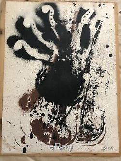 Lithographie originale ARMAN Violons 1970 signée & numerotée au crayon 282