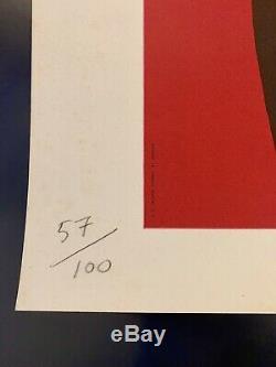 Lithographie originale Perrier Bernard Villemot signée et numérotée