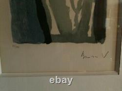Lithographie originale bram van velde numérotée signée encadrée