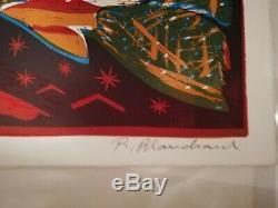 Lithographie originale signée et numérotée Rémi Blanchard Neuve