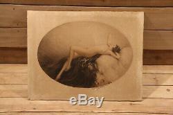 Louis ICART(1888-1950) Art déco femme nu gravure original 1928 signé erotics EVE