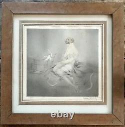 Louis Icart Rare Gravure Originale 1926 Art Déco Original Color Etching ++