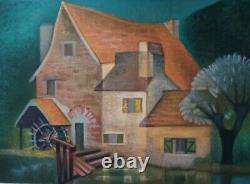 Louis TOFFOLI Le vieux moulin de Gercy LITHOGRAPHIE ORIGINALE #Signée crayon