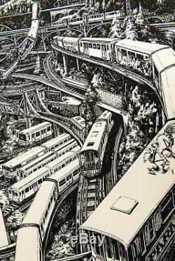 MAYE Train de Vie /40 Signé Anagraphis Print Street Art no JR Dran Ardif C215